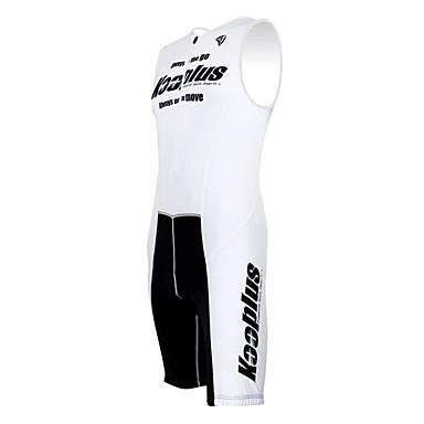 Kooplus Bărbați / Pentru femei Fără manșon Costum - Alb Bicicletă Set de Îmbrăcăminte, Uscare rapidă, Respirabil Poliester