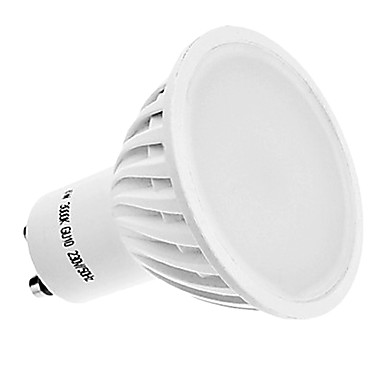 400 lm GU10 LED Spotlight MR16 42 leds SMD 3014 Warm White AC 220-240V