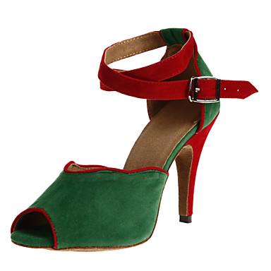 Damen Schuhe für den lateinamerikanischen Tanz / Ballsaal Satin Stöckelschuhe / Sandalen Schnalle Maßgefertigter Absatz Keine
