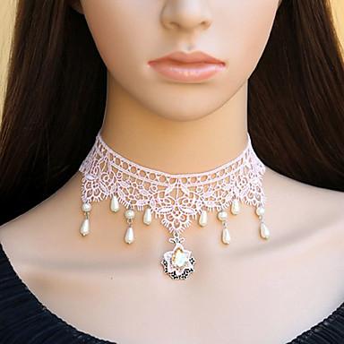 Bijuterii Lolita dulce Lănțișor Prințesă Lolita Accesorii Colier Dantelă Pentru Dantelă Pietre Prețioase Artificiale Aliaj