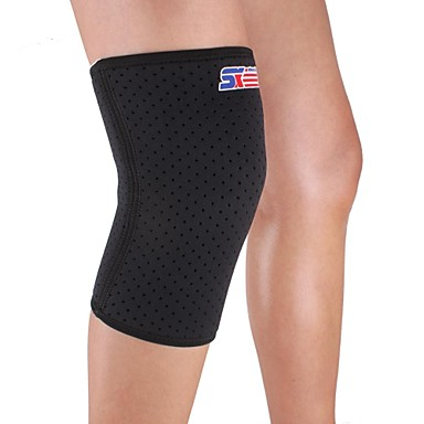Dizlikler Sport Podpora Ochranný Komprese Natahovací Fitness Black Fade