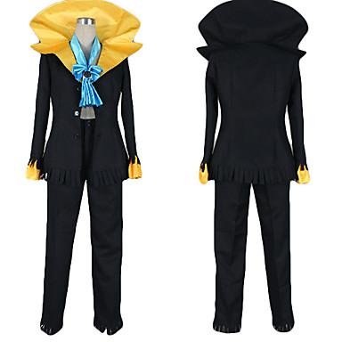 Inspirovaný One Piece Brook Anime Cosplay kostýmy Cosplay šaty Barevné bloky Kabát / Kalhoty / Kravata Pro Pánské