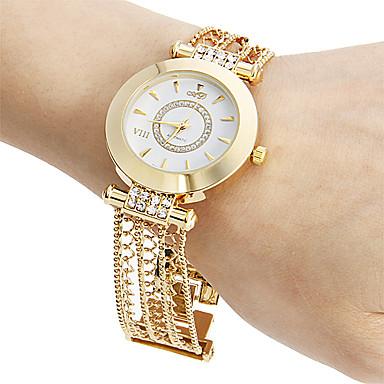 Damen Armband-Uhr Japanisch Transparentes Ziffernblatt Kupfer Band Glanz / Freizeit / Elegant Gold