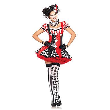 7dba831fc5 Börleszk / Bohóc Cirkusz Harley Quinn Szerepjáték Jelmezek Jelmez Bulikra  Felnőttek Női Karácsony Mindszentek napja Farsang