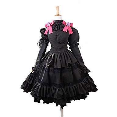Inspiriert von Date A Live Kurumi Tokisaki Anime Cosplay Kostüme Cosplay Kostüme Kleider Schleife Top Rock Stirnband Für Damen