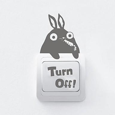 Zvířata Přepínač Rabbit samolepka na zeď Samolepky