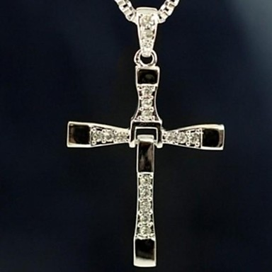 Herrn Kreuz Anhängerketten  -  Film-Schmuck Silber Modische Halsketten Für Weihnachts Geschenke Alltag Normal