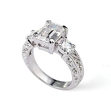 Damen Kristall Statement-Ring - vergoldet, Diamantimitate 6 / 7 / 8 Silber Für Hochzeit Party Normal / Krystall