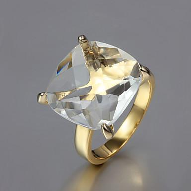 cadou pentru prietena de moda inele clare Declarație de zirconiu cubi (de aur) (1 buc)