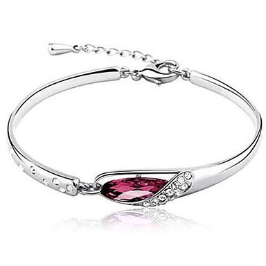 Brățări Bangle - Diamant, Diamante Artificiale Plin de graţie, Lux, Design Unic Brățări Mov / Rosu / Albastru Pentru Petrecere / Cadou / aleasă a inimii