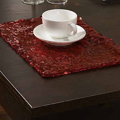 Contemporan Poliester Dreptunghiular Tăblițe masă Brodată Decoratiuni de tabla