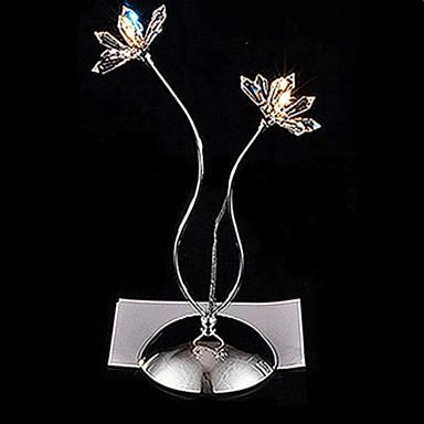 HALESOWEN - Tischlampe Floral aus Kristall mit 2 Glühbirnen