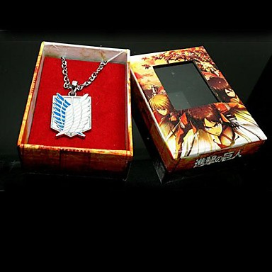 Jewelry Inspired by Attack on Titan Eren Jager Anime Cosplay Accessories Necklaces Alloy Men's