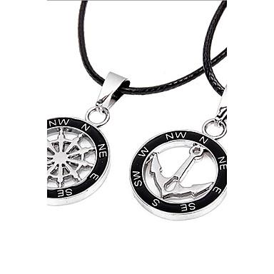 Anhängerketten - Leder Anker Einzigartiges Design, Modisch Modische Halsketten Für Weihnachts Geschenke, Party, Geschenk