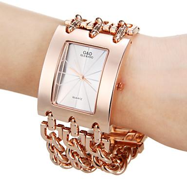 Damen Quartz Armbanduhr Schlussverkauf Band Charme Modisch Rotgold