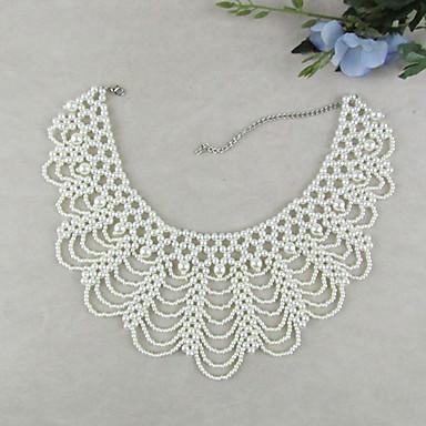 Damen Perle Künstliche Perle Kragen  -  Retro Brautkleidung Elegant Schmuck Weiß Modische Halsketten Für Hochzeit Party Besondere Anlässe