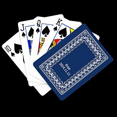 Personalizat cadou Albastru de viță de vie model carte de joc de poker