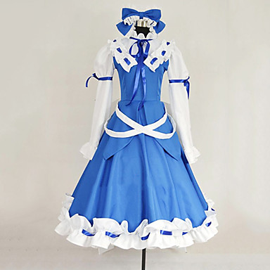 Inspirat de Touhou Project Cosplay Video Joc Costume Cosplay Costume Cosplay Peteci Rochie Fundă Cordeluțe