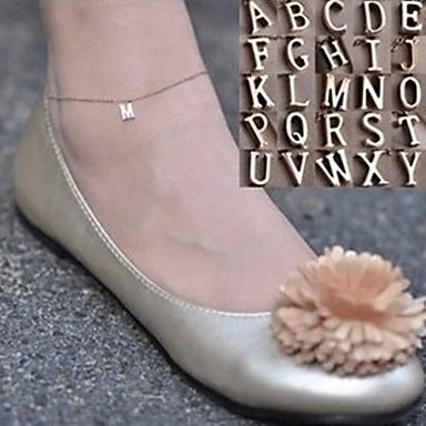 Anklet / Bracelet Alloy Initial Jewelry Simple Style Anklet Jewelry For Party Daily Casual Sports