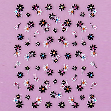 1pcs 3D Nagel Sticker Blume Modisch lieblich Gute Qualität Alltag