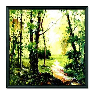 pictate manual peisaj pădure încadrată în ulei pictura decoratiuni acasă
