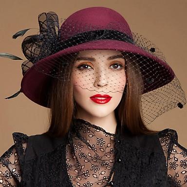 pantofi de lână fascinatori pălării cap de stil clasic feminin