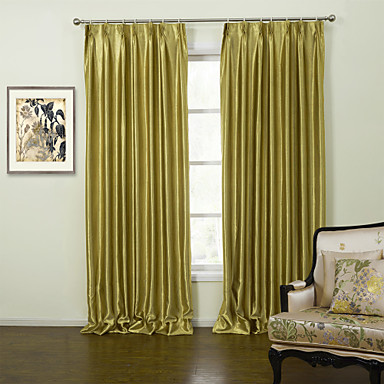 Rod Pocket Grommet Top Tab Top Double Pleat Two Panels Curtain Modern, Embossed Solid Living Room Polyester Material Curtains Drapes Home