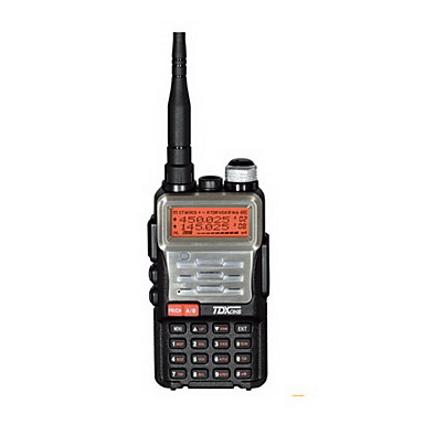 TDX Q8.CH Water Resistant CTCSS / DCS Dual-Band Walkie Talkie - Sort + Champagne