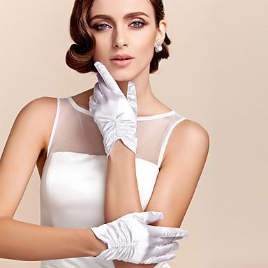 abordables Gants de Fête-Satin / Polyester Longueur Poignet Gant Classique / Gants de Mariée / Gants de Fête / Soirée Avec Couleur Unie