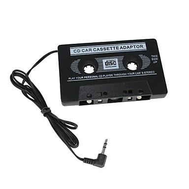 Car Audio-Kassetten-Adapter für MP3 / MP3 / Handy - Schwarz (3,5 mm Klinkenstecker)