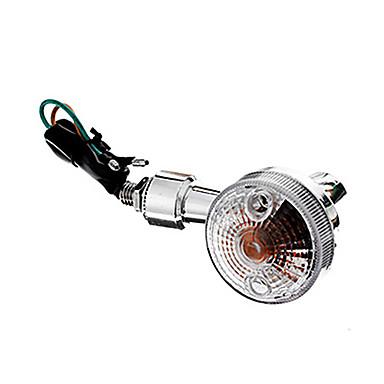 DIY Wasserdicht Blinker für Motorräder Yellow Light Silber (AC12-16V 8W 2-teilig)