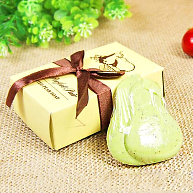 Wedding Gift Mini Pear Soap 32g Cosmetic Beauty Care Makeup for Face