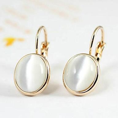 Dámské 1 Visací náušnice Křišťál Pozlacené Opál Šperky Stříbrná Zlatá Svatební Párty Denní Ležérní Kostýmní šperky