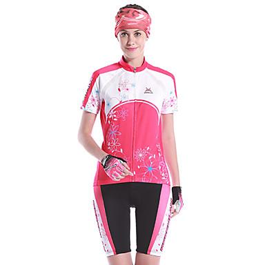 Mysenlan Pentru femei Mânecă scurtă Bicicletă Set de Îmbrăcăminte Uscare rapidă Purtabil Respirabil Spandex 100% Poliester Poliamidă
