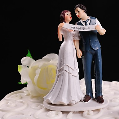 Tortenfiguren & Dekoration Blumen Klassisch Klassisches Paar Harz Hochzeit Mit Geschenkbox