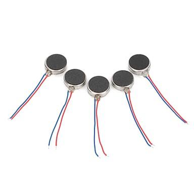 DIY 1027 Wohnung Vibrations Vibrationsmotor - Silber (5 PCS)