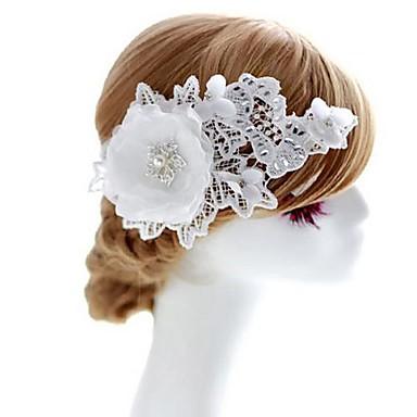 Dame Blomsterpige Blonde Rhinsten Stof Medaljon-Bryllup Speciel Lejlighed Blomster