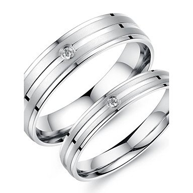 Dámské Titanová ocel Snubní prsteny - Módní Prsten Pro Svatební / Párty / Denní
