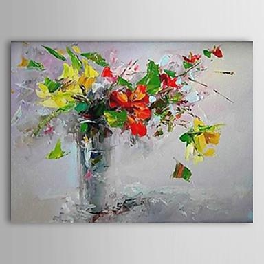 Hang-Ölgemälde Handgemalte - Blumenmuster / Botanisch Zeitgenössisch Segeltuch