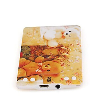 Bear - Slim Card Style MP3-afspiller med Cartoon Printing (2 GB)