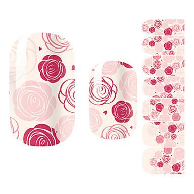 28PCS Pink Rose Design Nail Art Stickers