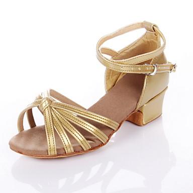 abordables Chaussures de Samba-Femme Chaussures de danse Polyuréthane Chaussures Latines / Salon Sandale Talon Bas Non Personnalisables Argenté / Doré / Fuchsia / Enfant / Daim / EU37