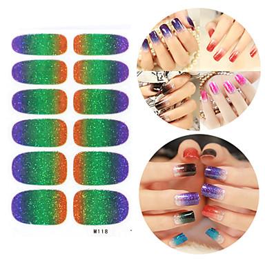 28PCS Glitter Gradient rampă Nail Art Stickere M Series No.118