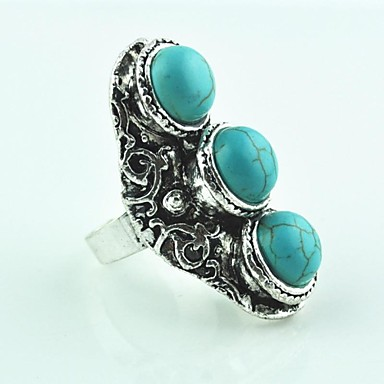 Dámské Prsteny s kamenem Nastavitelná Tyrkys Slitina Šperky Pro Párty Denní