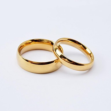 Fashion Simple High Polished Titanium Steel Couple Rings  Promis rings for couples