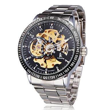 2f9277cf007 Masculino Relógio de Pulso relógio mecânico Automático - da corda  automáticamente Gravação Oca Aço Inoxidável Banda