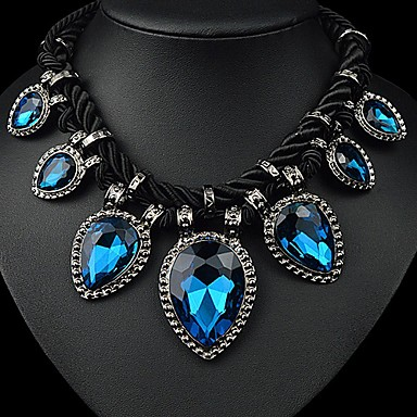Tango Fashion Jewelry Rhinestone Necklace(Green,BlueNZ0080)