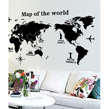 mapa světa vzor stěna nálepka (1ks)