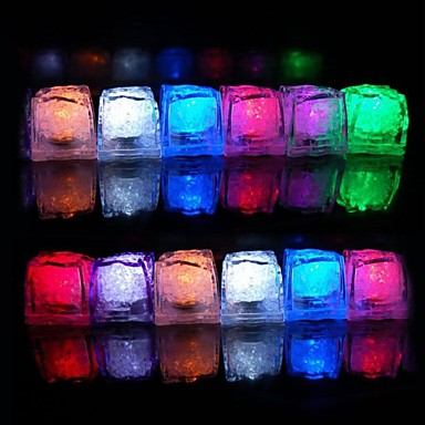 Smart Lights LEDs RGB LED Eiswürfel Dekorativ Batterien angetrieben 1set