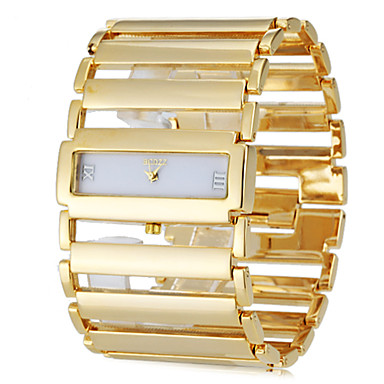 Недорогие Квадратные и прямоугольные часы-Жен. Часы-браслет золотые часы Квадратные часы Японский Нержавеющая сталь Серебристый металл / Золотистый Повседневные часы Дамы Роскошь Элегантный стиль - Золотой Серебряный